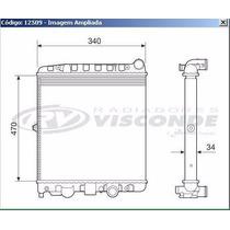12509 Radiador De Agua Gol/saveiro/parati 1.0 8/16v Mi 97/08