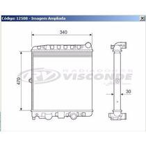 12508 Radiador De Agua Gol/saveiro/parati 1.0 8/16v 97/08