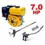 Motor Barco 7,0hp 4t Buffalo + Rabeta Desengate Rápido 1,70m