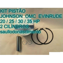 Kit Pistão Motor De Popa Johnson 25 Hp Evinrude 25 Hp Omc 25