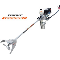 Motor Barco Branco 6,5cv 4t +rabeta Para Barco Turbo Tornado