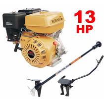 Motor Barco 13hp 4t Buffalo Bote + Rabeta Completa 2,20m