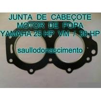 Junta Do Cabeçote Motores De Popa Yamaha 25 Hp Vm Frete Grat