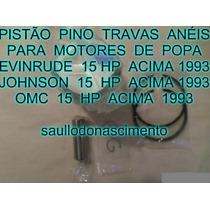 Kit Pistão Evinrude 15 Hp Johnson 15 Hp Omc 15 Hp Acima 93