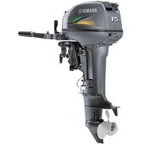 Motor De Popa Yamaha 15 Hp 2015 - 2 Revisões Free + Brinde