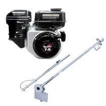 Motor Barco 7hp Bote 4t Toyama Popa + Rabeta Std 1,5m + Kit!