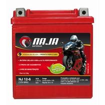 Bateria De Moto 12v 6ah - Naja Nj12-6; Honda Xr Cg150 Cb250