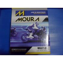 Bateria Moto Moura Ytx7l-bs Yuasa Ma7-d 6ah Falcon Twister