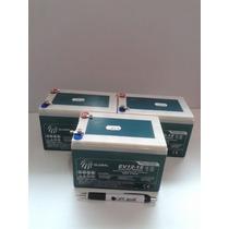 Kit 3 Bateria 6-fm-12 (12v12ah/20hr) Patinete Elétrico