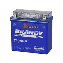 Bateria Brandy Gel By G12n5,5 Ybr 125 Ate 08/ Rd 125-135