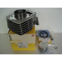 Kit Cilindro Pistao E Aneis Ybr/factor E Xtz 125 Metal Leve
