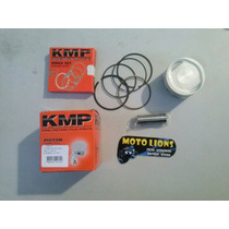 Kit Pistao Aneis Do Cilindro Motor Burgman 125 Std