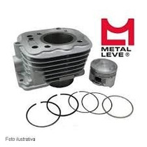 Kit Motor Completo Cilindro Pistao Metal Leve Biz 100 Dream