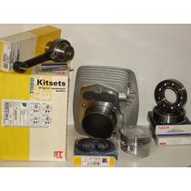 Kit Cilindro+biela+rolamentos Xr200 Cbx200 Nx200 Metal Leve