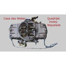 Opala 6cc Quadrijet Holley Niquelada C/ Coletor De Admissão