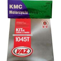Kit Relação Titan 150 Vaz Com Corrente Transmissão Kmc Moto