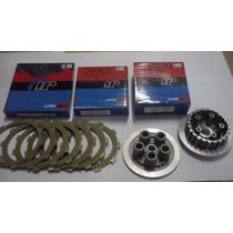 Kit Embreagem Plato E Cubo + 7 Discos Honda Nx 400 Falcon