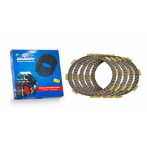 Kit Disco Embreagem Brandy Honda Cg125/nxr125 Bros/ml (46)