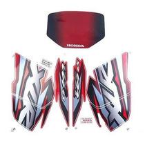 Kit Jogo Adesivo Moto Honda Xlr125 Es 2002 Velmelha