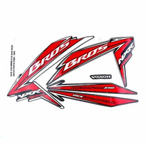 Kit Jogo Adesivo Honda Nxr150 Esd Bros 2010 Mix Preta