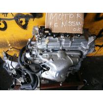 Motor Nissan 1.6 Usado Em ,ótimo Estado Do Leilão
