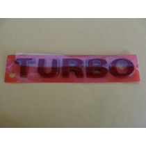 Emblema Turbo Vermelho Gol Parati G2 G3 - Novo !