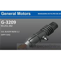 G3209 Mangueira Filtro Ar Gm S10 / Blazer 2.2 Mpfi Gas 98/00