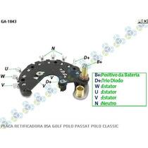 Placa Retificadora Vw Golf 1.4i 1.6 1.8i 2.0 85a - Gauss