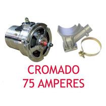 Alternador Completo 75ah Cromado Fusca Brasília Kombi Buggy!