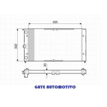 Radiador Ford Belina/ Pampa /del Rey / Corsel