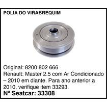 Polia Do Virabrequim Renault Master 2.5 2010 Em Diante C/ Ar