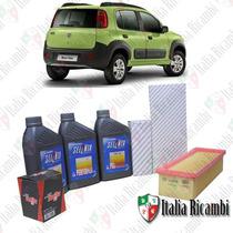 Selenia Performer 15w40 E Filtros Fiat Novo Uno 1.4 Evo