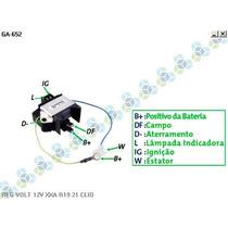 Regulador Voltagem Renault R19 Rt - Gauss