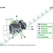 Regulador Voltagem Fiat Palio 1.8 Ohc I 02/... - Gauss