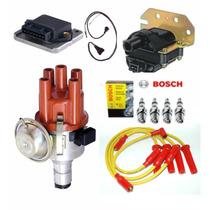 Kit Ignição Eletrônica Fusca Kombi C/ Cabo Amarelo E Velas