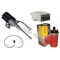 Kit Ignição Eletrônica Jeep Willys Rural F75 6c Bobina Bosch