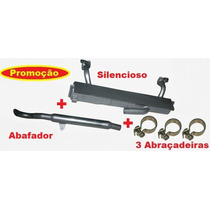 Silencioso + Abafador + Abraçadeiras P/ Brasilia 1500 E 1600