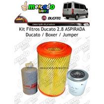 Filtro Ar + Óleo + Combustível Fiat Ducato 98 Até 2005