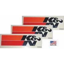 3 Adesivos K&n Kn Ken Filters Original Americano Importado