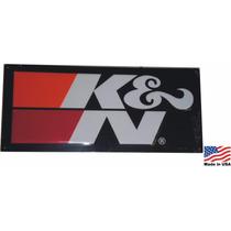 Placa Metal Alto Relev Filtro K&n Ken K N Original Americano