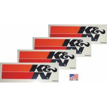 4 Adesivos K&n Kn Ken Filters Original Americano Importado