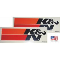 2 Adesivos K&n Kn Ken Filters Original Americano Importado