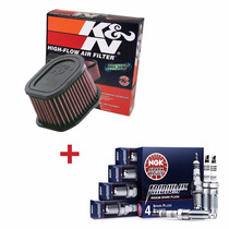 Kit Filtro De Ar K&n + Velas De Iridium Ngk Kawasaki Z750