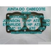 Junta Do Cabeçote Motor De Popa Evinrude Jonhson Omc 15 Hp