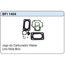 Jogo Junta Do Carburador Weber Fiat Uno Mille Brio