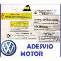 Vw Adesivo Tecnico Gol Cofre Motor + Completo Passat Saveir