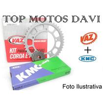 Kit Relação Completa Honda Nx 400 Falcon Vaz + Kmc Ro