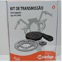 Kit Relação De Transmissão Cofap Moto Honda Titan Fan 150
