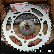 Kit Relacao Did Yamaha Xj6 Com Pinhao Coroa E Corrente