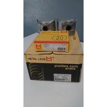 Pistao E Aneis Metal Leve Pa 1424 0,75 Chevette 1.6 83/ Gas